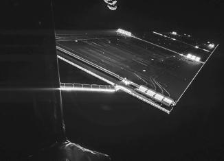 Space selfie, rosetta selfie, rosetta selfie at comet, rosetta selfie comet, Space selfie? Here you go: Rosetta mission selfie at comet 67P/C-G, taken on 7 September. Credit: ESA/Rosetta/Philae/CIVA