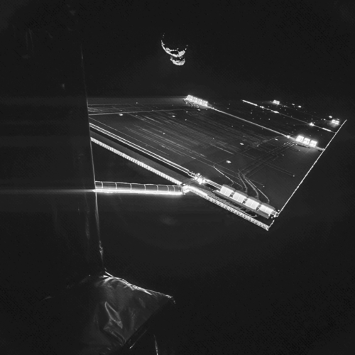 Space selfie, rosetta selfie, rosetta selfie at comet, rosetta selfie comet, Space selfie? Here you go: Rosetta mission selfie at comet 67P/C-G, taken on 7 September. Credit: ESA/Rosetta/Philae/CIVA, space, space oddity, rosetta, rosetta selfie