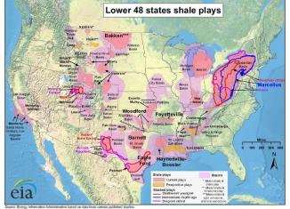 shale gas in the US map, shale gas reservoirs usa, shale gas map, shale gas play usa, fracking map usa, us fracking map, us gas reserves, map of shale gas in usa, Map of shale gas reservoirs in the USA