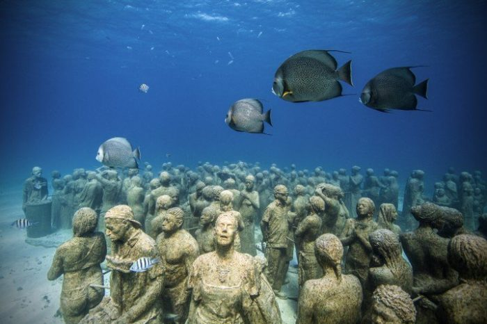 underwater museum cancun, cancun underwater museum, underwater sculpture, underwater sculpture cancun, underwater museum yucatan, underwater museum mexico, This amazing underwater museum off Cancun, Mexico was built by Jason de Caires Taylor
