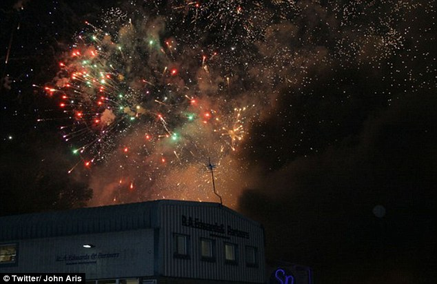 explosion and loud booms after Explosion of SP Fireworks Factory in Stafford, Mind-blowing fireworks during explosion of  SP Fireworks Factory in Stafford, UK