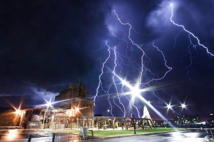 Spectacular Lightning Storm Strikes Adelaide in Southern Australia on October 26 2014 Adelaide-lightning-storm-australia-october-2014-Port-Adelaide-SA