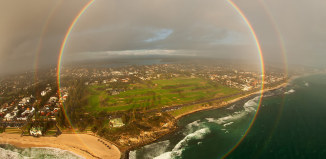 full circle rainbow, full circle rainbow photo, best rainbow photo, doucle rainbow photo, best photo circle rainbow, circular rainbow photo, double full circle rainbow photo, best rainbow photo