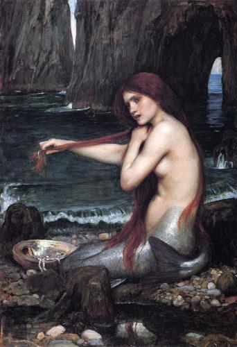 mermaid, mermaid fantasy, mermaid legends, real mermaid, real life mermaid, strange medical condition: mermaid syndrom, mermaid syndrome, A Mermaid by John William Waterhouse