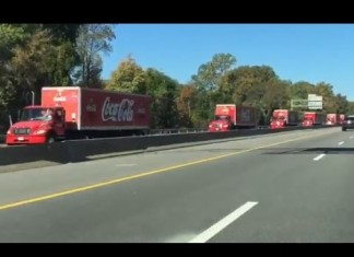 2014 Worlds Largest Truck Convoy Special Olympics, 2014 Worlds Largest Truck Convoy Special Olympics, mysterious truck convoy, truck convoy virginia, massive and mysterious truck convoy virginia, What was this massive truck convoy in Virginia? Conspiracy or Special Olympics?,