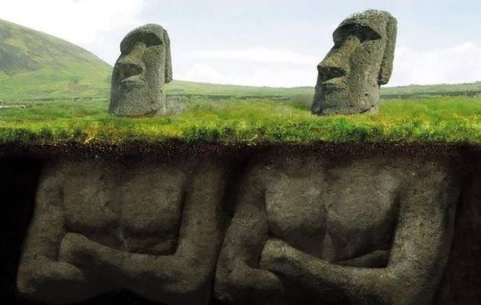 easter island statue body, easter island statue have body, easter island statue bodies