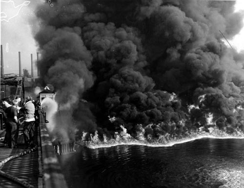 cuyahoga river fire cleveland 1969, the river that caught fire, cuyahoga river fire cleveland 1969 photo, cuyahoga river fire cleveland 1969 times picture, story of the Cuyahoga river fire in 1969, us burning river cleveland, This photo published by the Times is not from the 1969 Cuyahoga River fire but from 1952, us burning fire 1969, burning river cuyahoga cleveland 1969