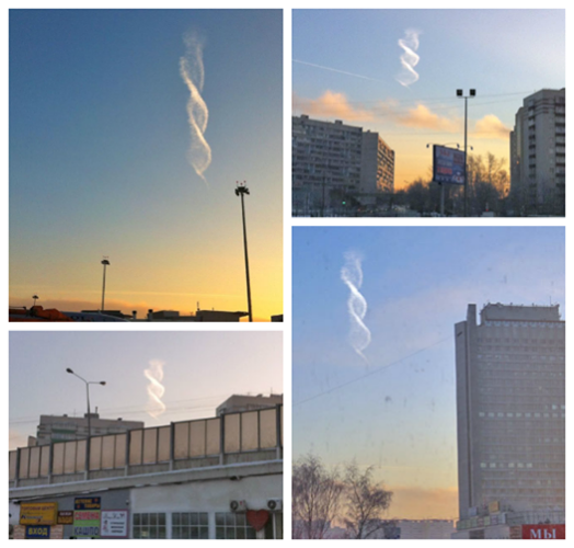DNA cloud over Moskow on December 24, 2012, helix cloud moscow russia, helix cloud, dna cloud, strange clouds, strange clouds:helix cloud moscow russia