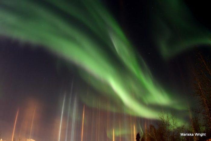 Light pillars and aurora, Light pillars and aurora fairbanks, Light pillars and aurora fairbanks alaska, Light pillars and aurora november 2014, Light pillars and aurora: A wonderful light show in the sky of Fairbanks, Alaska!