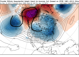 """omega block blizzard usa november 2014, omega block usa, blizzard usa, arctic blast usa, Meet the """"Omega Block,"""" Your Wintry Companion for (At Least) the Next Two Weeks"""