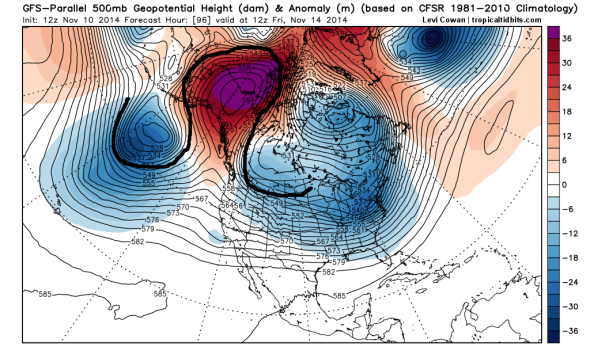 "omega block blizzard usa november 2014, omega block usa, blizzard usa, arctic blast usa, Meet the ""Omega Block,"" Your Wintry Companion for (At Least) the Next Two Weeks"