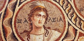 zeugma mosaic the muse thalia, zeugma ancient mosaic: The muse thalia. Photo: Adem Yılmaz, zeugma mosaic, ancient mosaic zeugma, zeugma mosaic november 2014, ancient mosaic unearthed in Zeugma nov 2014, Stunning Ancient Greek Mosaic Depicting The Nine Muses or Daughters of Zeus Unearthed in Turkey, zeugma, zeugma mosaic, zeugma excavation project, mosaic zeugma turkey, turkey ancient mosaic zeugma, amazing zeugma mosaic discovery nov 2014, Zeugma Antik Kenti'nde 3 yeni mozaik bulundu