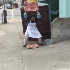 tenderizing meat on sidewalk, tenderizing meat on sidewalk video, tenderizing meat on sidewalk photo, tenderizing meat on sidewalk SF, tenderizing meat on sidewalk san francisco, tenderizing meat on sidewalk restaurant san francisco