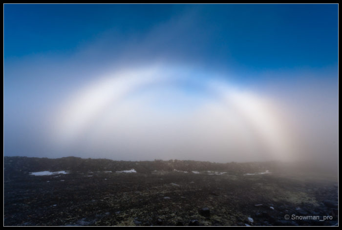 Fogbow, Brocken Spectre, Glory, picture Fogbow Brocken Spectre & Glory, photo Fogbow Brocken Spectre & Glory