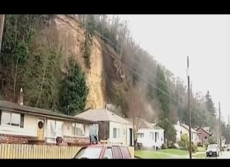 Landslide Knocks Entire House Off Its Foundation