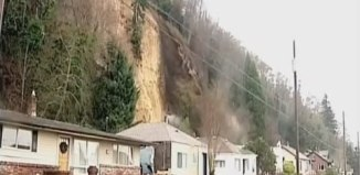 Landslide Knocks Entire House Off Its Foundation