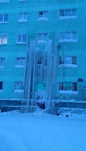 Water Main Breaks in Dudinka, Water Main Breaks in Dudinka pictures, Water Main Breaks in Dudinka photos, water main dudinka, water main break russia, caes caught in ice dudinka, dudinka ice main break, dudinka ice, dudinka water main ice, dudinka frozen geyser