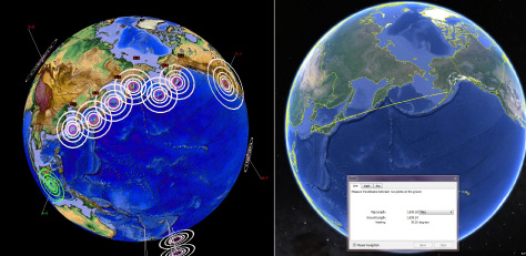 Mysterious Line Of Earthquakes Between Japan and Alaska Progresses Across Vast Over A Short Time, Mysterious line of quakes between Japan and Alaska proves that earthquakes DO progress across vast areas, and are related to one another. Geological oddity!, Earthquakes progress over vast areas over short time, earthquake progression, earthquake progression 2015, earthquake progression japan alaska 2015, earthquake line 2015, earthquake line japan to alaska 2015, earthquake progression Japan Alaska 2015, Weird Line Of Earthquakes Progressing Across A Vast Area Over A Short Time
