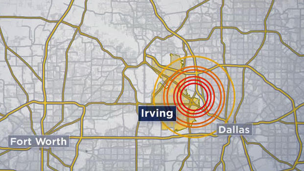 earthquake dallas january 2015 video, earthquake swarm dallas irving january 2015, earthquake swarm dallas january 2015, earthquake irving january 2015, loud booms dallas irving january 2014, earthquake swarm rattles dallas january 2015, earthquake booms dallas irving january 2015, Epicenter Irving of earthquake swarm that rattled DFW area in January 2015.
