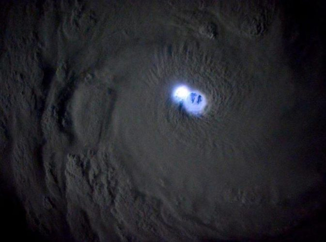 lightning Tropical Cyclone Bansi photo lightning bansi picts iss photo lightning bansi lightning & Apocalyptic lightning strikes right into the eye of cyclone Bansi ...