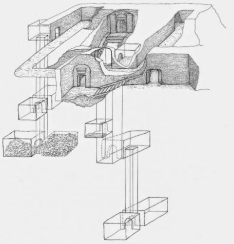 osiris tomb discovery, osiris tomb discovery egypt, giant osiris tomb discovered in egypt, egypt osiris tomb discovery, discovery of osiris tomb god of  death, Sketch of the Osiris tomb discovery in Egypt in January 2015
