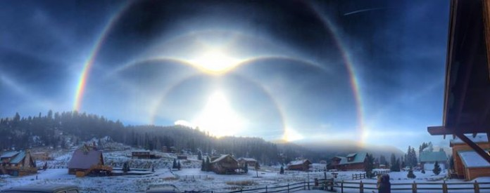 arctic blast, arctic blast 2015 pictures, arctic blast halo, solar halo NM photo, solar halo arctic blast New Mexico photo, amazing halos around the sun NM pic, picture of halo around the sun New Mexico january 2015