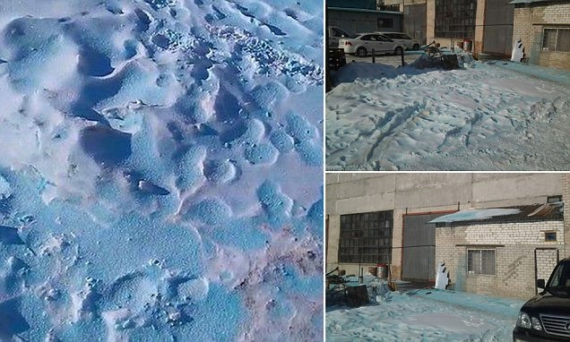 Blue snow russia, mysterious Blue snow russia, mystery Blue snow russia, blue snow chelyabinsk, mystery blue snow chelyabinsk, blue snow russia photo, Mystery blue snow covers Chelyabinsk, Russia and baffles residents and officials in February 2015