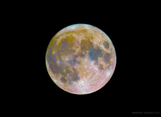 colors of moon, true color of moon, what is the color of moon, moon color is not grey, moon is multicolor, multicolor moon, What the true color of the moon? Discover in this amazing picture what are the real colors of the moon, The true colors of the moon by Maximilian Teodorescu at Comana Woods, Romania