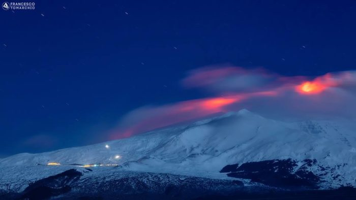 etna eruption 2015, etna eruption snow picture, etna eruption february 2015 snow, Eerie Nocturnal Etna Eruption In Snow, etna eruption snow photo, etna eruption snow photo february 2o15, etna volcano eruption snow picture
