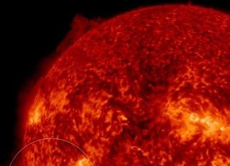 solar filament impending eruption february 2015, solar filament eruption february 2015, solar filament picture 2015, solar filament eruption february 2015