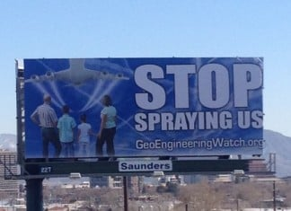 stop Geoengineering billboard, Geoengineering billboard, Geoengineering billboard reno, Geoengineering billboard reno nevada, Geoengineering billboard reno march 2015