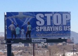 stop Geoengineering billboard, Geoengineering billboard, Geoengineering billboard reno, Geoengineering billboard reno nevada, Geoengineering billboard reno march 2015