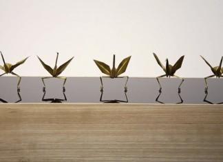 dancing paper origami cranes, dancing origami, dancing origami cranes, dancing paper, dancing origami cranes video