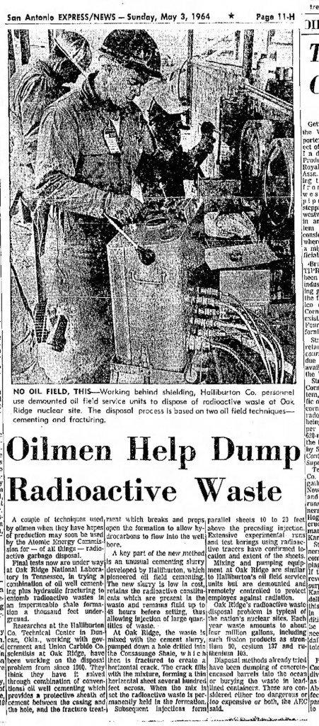 radioactive waste fracking, fracking to put radioactive waste underground, burry radioactive waste underground, us radioactive waste burried with fracking, Shock: Fracking Used to Inject Nuclear Waste Underground for Decades