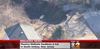 sinkhole south amboy, sinkhole south amboy video, south amboy sinkhole, Homes Evacuated After Huge Sinkhole Opens Up In South Amboy, Street Collapse In South Amboy, giant sinkhole swallows car in south amboy NJ, NJ sinkhole south amboy march 2015, giant sinkhole collapses under car in south amboy NJ video