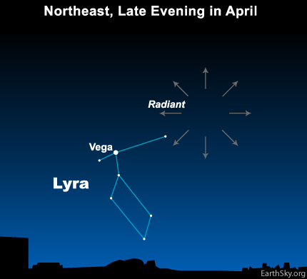 Lyrids, Lyrids meteor shower, the lyrids, the lyrids meteor shower, Lyrids april 2015, lyrids radiant, lyrids radiant 2015