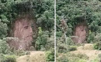 jesus face landslide colombia, face of jesus landslide, landslide jesus colombia april 2015, face of jesus appears in landslide scar april 2015, jesus face landslide colombia 2015, The face of Jesus appeared in a landslide scar in Colombia and is attracting hundreds of visitors.