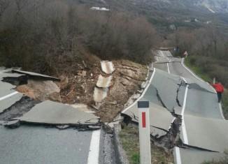 landslide Montenegro Markovici, landslide markovici 2015, landslide Montenegro Markovici