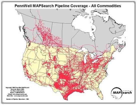 Map Of US Oil Pipelines The Big Picture Roosh V Forum Dakota - Oil pipeline map north america