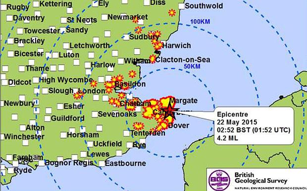 earthquake kent, earthquake kent UK may 2015, kent earthquake, earthquake uk, uk earthquake may 2015, earthquake kent may 22 2015
