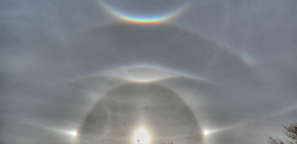 ice halos hurricane sandy, AMAZING ICE HALO display, Hurricane Sandy creates rare ice halos, Rare Photo of Ice Halos Captured in the Wake of Hurricane Sandy, AMAZING ICE HALO photo, rare Ice Halos in the sky from Hurricane Sandy