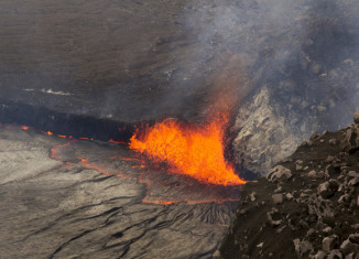 lava lake overflowing hawaii amazing, lava lake overflowing hawaii photo, lava lake overflowing hawaii video, lava lake overflowing hawaii eruption, Halemaumau Crater on Kilauea volcano