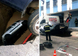 sinkhole swallows man in las palmas, car and man swallowed by sinkhole in las palmas, sinkhole swallows man and car in las palmas de gran canaria, sinkhole las palmas may 2015, giant sinkhole swallows car in Las Palmas, sinkhole las palma de gran canaria,