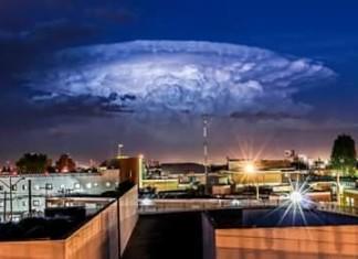 strange cloud San Luis Potosí, amazing cloud video, thunderstorm cloud video, video of thunderstorm san luis potosi, Apocalyptic thunderstorm cloud engulfs San Luis Potosi, Nube de Tormenta en San Luis Potosí