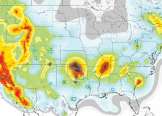 us earthquake map 2015, New U.S. earthquake hazard map, heartland earthquake hazard, Heartland danger zones emerge on new U.S. earthquake hazard map, man-mad earthquake heartland, fracking quake heartland, human-caused earthquake heartland, new map of earthquake hazard usa, Incorporating Induced Seismicity in the 2014 United States National Seismic Hazard Model. There is are new earthquake hazard zones appearing on the US earthquake map!, New map highlights earthquake risk zones. Blue boxes indicate areas with induced, or human-caused, quakes.