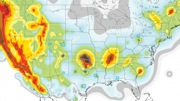 Us Earthquake Map 2015 New U S Earthquake Hazard Map Heartland Earthquake Hazard Heartland