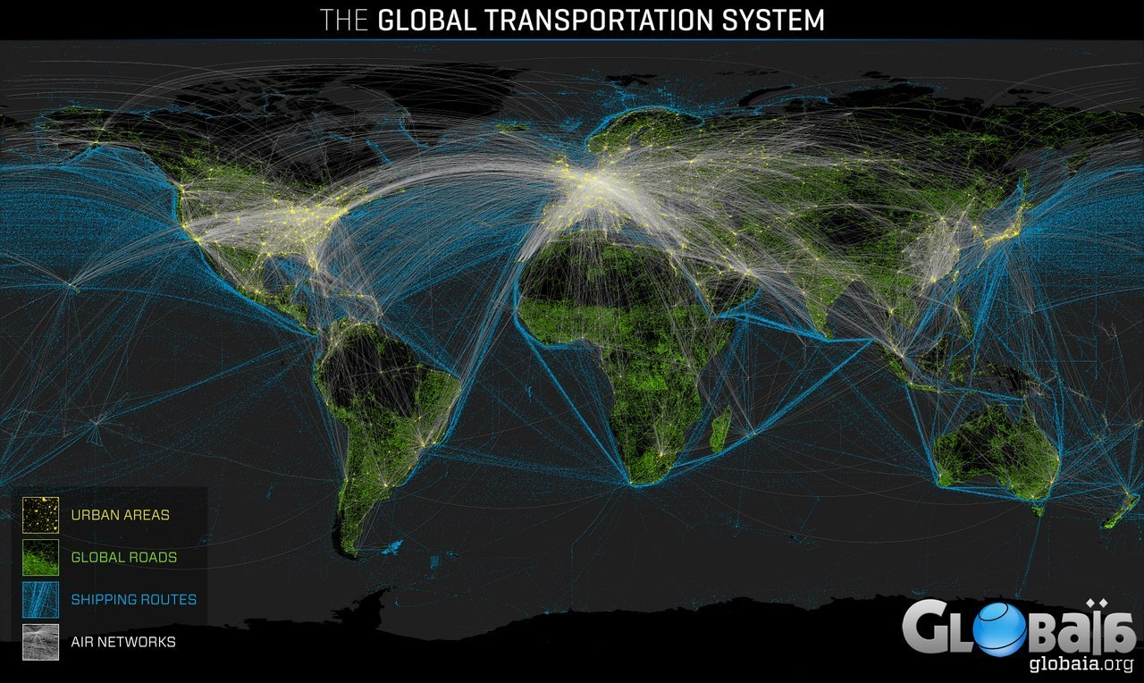 Global Transportation System Map Strange Sounds - World map with shipping lines from us