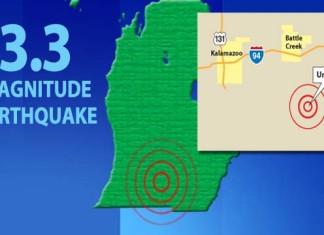 michigan earthquake june 2015, lower michigan earthquake june 2015, union city michigan earthquake june 2015, 3.3 magnitude earthquake michigan june 2015, rare michigan earthquake june 2015