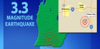 michigan earthquake june 2015, lower michigan earthquake june 2015, union city michigan earthquake june 2015, 3.3 magnitude earthquake michigan june 2015, rare michigan earthquake june 2015