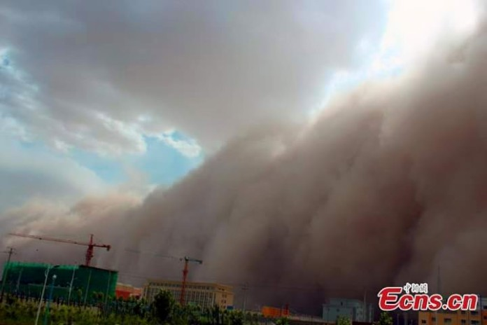 sandstorm video june 2015, latest sandstorm news, apocalyptic sandstorm in china june 9 2105, sandstorm china june 2015, sandstorm hotan june 2015, hotan sandstorm june 9 2015, apocalyptic sandstorm video
